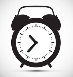 Simple Flat Design Alarm Clock Icon vector image