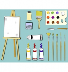 Art supplies  painting vector