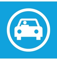 Car sign icon vector