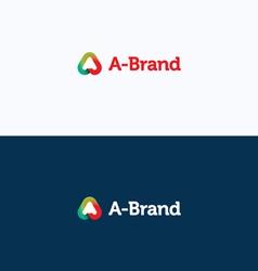 A-Brand letter stroke logo vector image