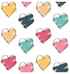 Valentines day background with colorful hearts vector