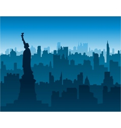 New york cityscape background vector