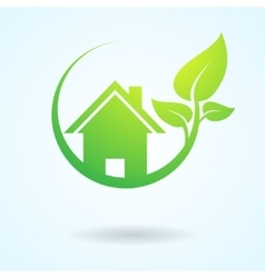 Green nature real estate vector