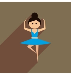 Flat web icon with long shadow ballet dancer vector