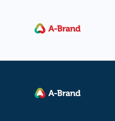 A-brand letter stroke logo vector