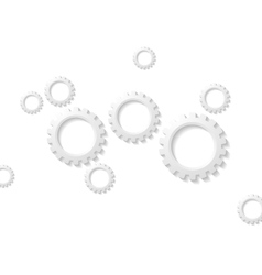 Abstract tech paper gears mechanism vector