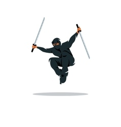 Asian Ninja Cartoon Asia vector image