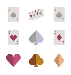 Assembly flat icons poker playing card vector