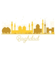 Baghdad city skyline golden silhouette vector