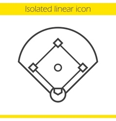 Baseball field icon vector