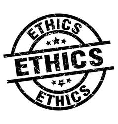 Ethics round grunge black stamp vector