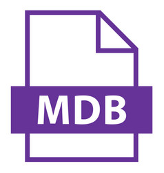File name extension mdb type vector