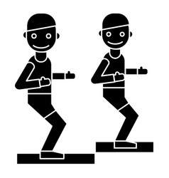 fitness trainer - coach - gym icon vector image