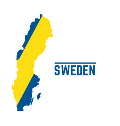 flag and map of sweden vector image