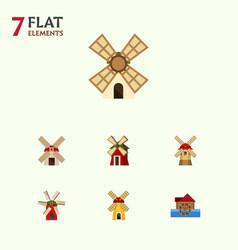 Flat icon alternative set of power ecology vector