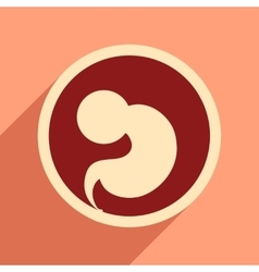 Flat icon with long shadow child in womb vector
