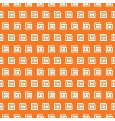 Greek seamless pattern orange and white colors vector