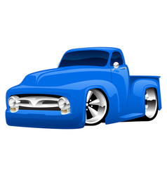 Hot rod pickup truck vector