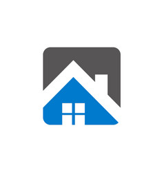 house roof realty logo vector image
