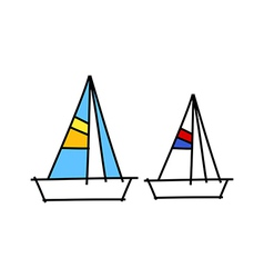 icon yacht vector image vector image