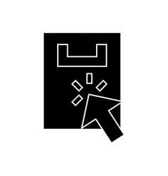 internet shopping bag icon vector image
