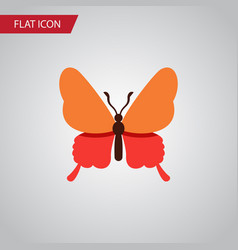 isolated butterfly flat icon danaus plexippus vector image