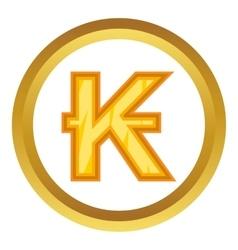 Lao kip icon vector