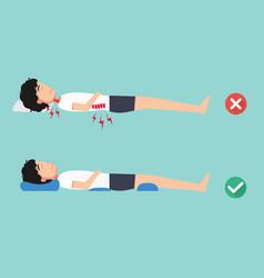 orthopedic pillows for a comfortable sleep vector image vector image