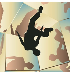 Parkour mirrors vector image