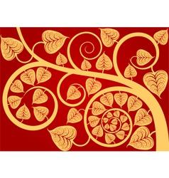 Patterned gold leaf vector