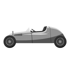 Retro car icon gray monochrome style vector