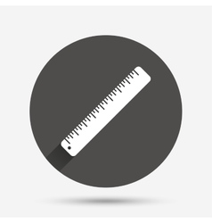 Ruler sign icon School tool symbol vector image vector image