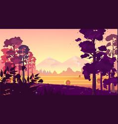 Rural landscape natural vector