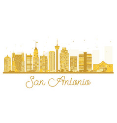 san antonio city skyline golden silhouette vector image