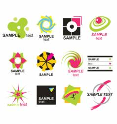 set elements for design vector image vector image