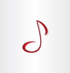 stylized musical note symbol vector image