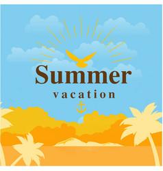 Summer vacation sea sunet background image vector
