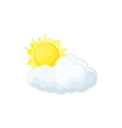 Sun and cloud icon cartoon style vector image vector image