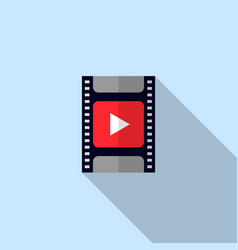 video icon movie filmstrip vector image