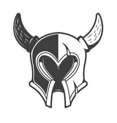 viking helmet isolated on white background design vector image