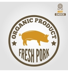 Vintage labels logo emblem templates of butchery vector image vector image