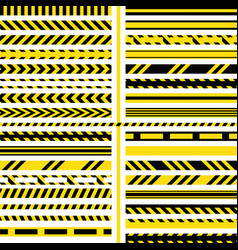 yellow and black danger ribbons vector image