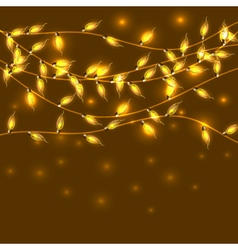 Colorful glowing christmas lights backdrop for new vector