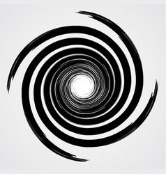 Black spiral swirl circle vector