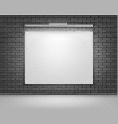 White mock up poster picture frame front view vector