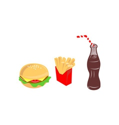 Food Burger Fries Drink vector image
