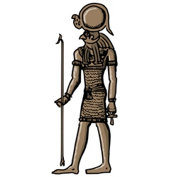 Horus - god of ancient egypt vector