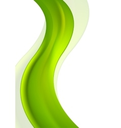 Vertical green waves bright design vector