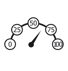 Speedometer black and white infographics vector