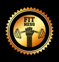 Fitness club design vector